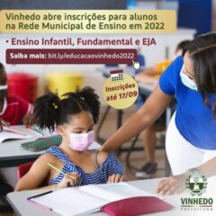 VINHEDO abre inscrições para alunos interessados em ingressar na escola pública em 2022