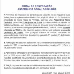 Utilidade Pública – Edital de Convocação Santa Casa de VINHEDO