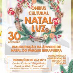 VINHEDO: Ônibus Cultural abre inscrições para inauguração da árvore de Natal do Parque Ibirapuera