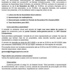 Utilidade Pública – Edital de Convocação Assembleia Geral Ordinária Virtual Associação Villaggio Capriccio